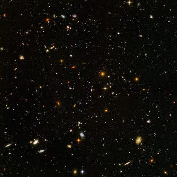 The Hubble Ultra Deep Field, imaged in 2004 by the Advanced Camera for Surveys. This is the deepest visible light image ever made of the Universe. The only way to see further is to look in infrared.