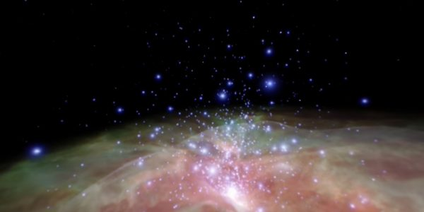 Flight through the Orion Nebula (360 Video)